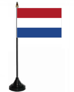 Holland Desk / Table Flag with plastic stand and base.